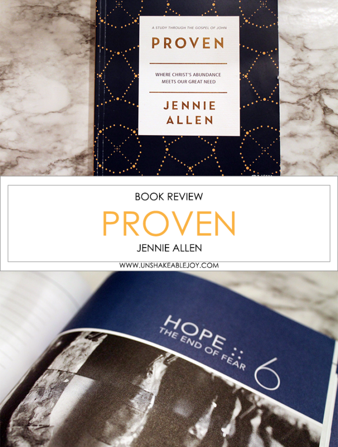 {Book Review} Proven by Jennie Allen
