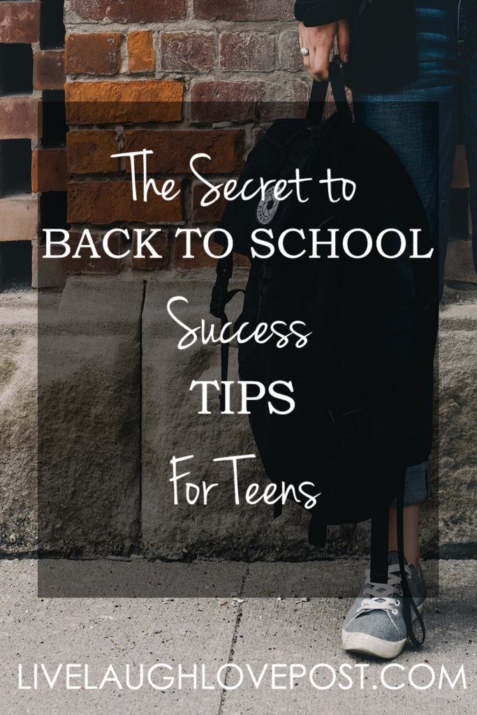 The Secret to Back-To-School Success Tips for Teens