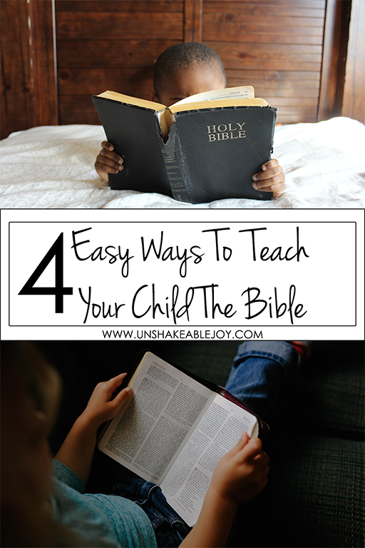 4 easy ways to teach your child the bible