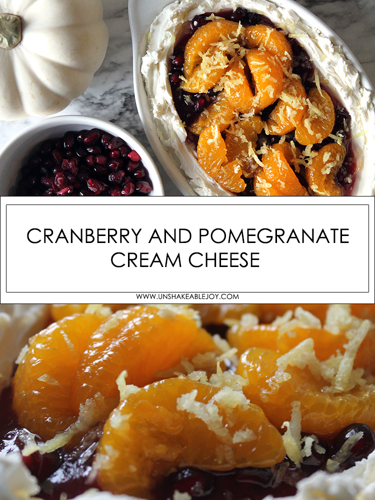 cranberry and pomegranate cream cheese