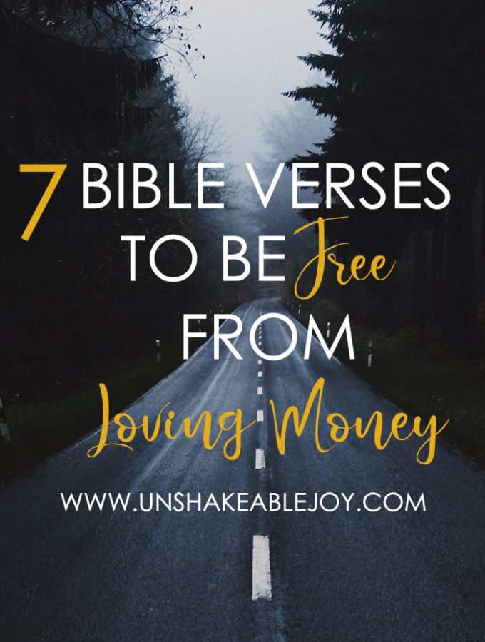 7 bible verses to be free from loving money