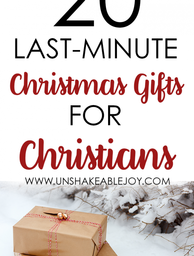20 Last Minute Christmas Gifts for Christians