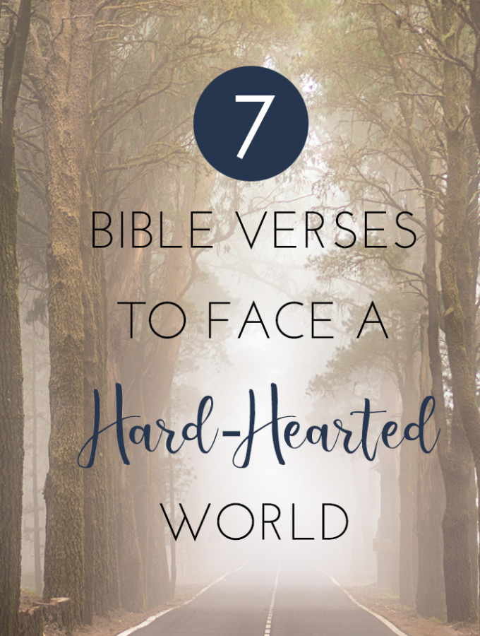 7 Bible Verses To Face A Hard Hearted World