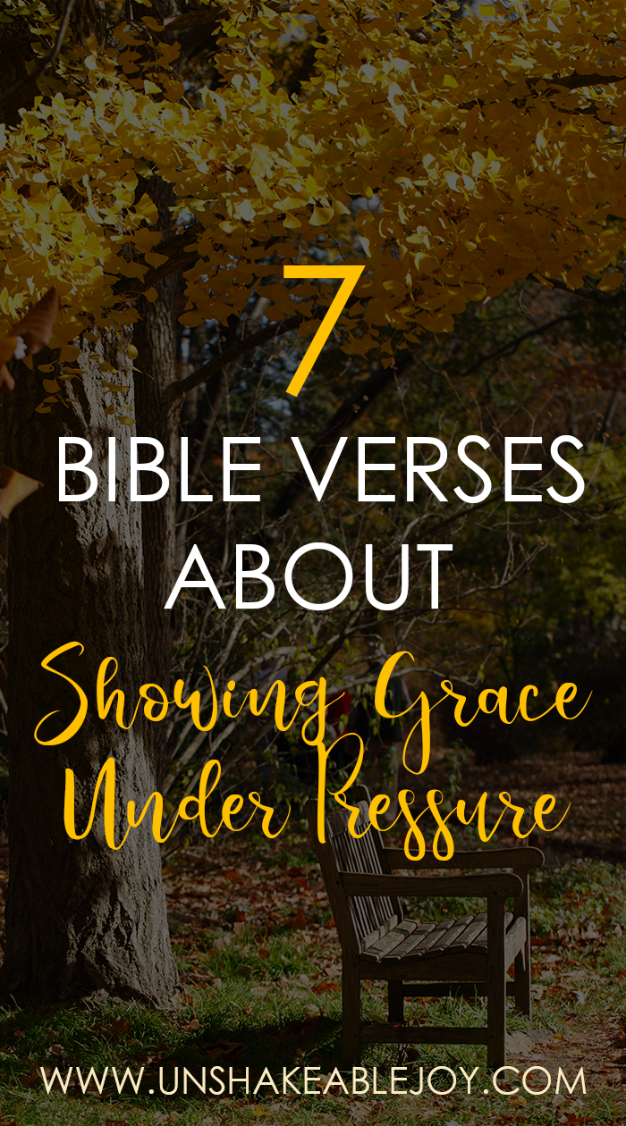 7 Bible Verses About Showing Grace Under Pressure