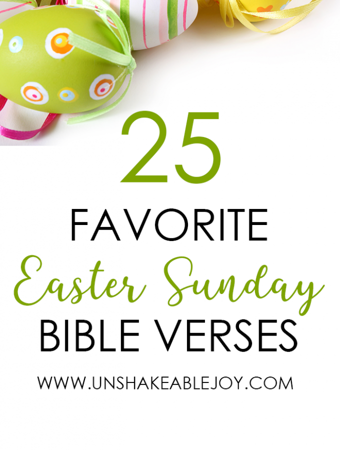 25 Favorite Easter Sunday Bible Verses