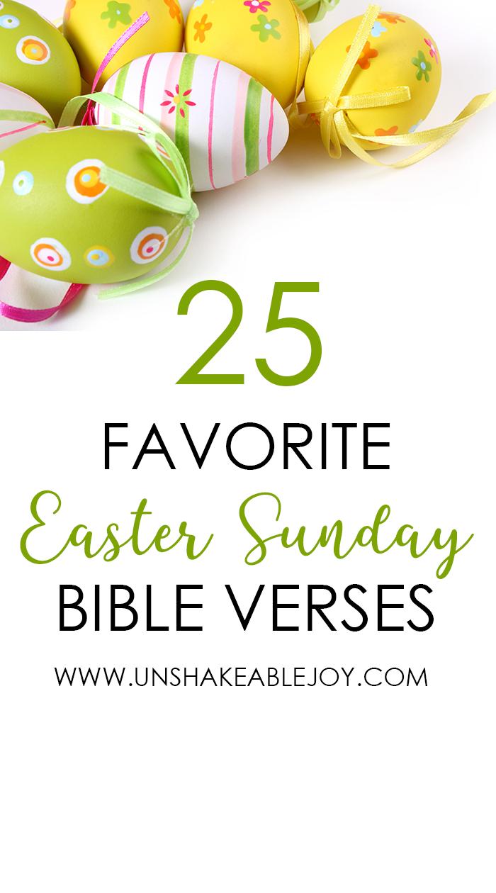 25 Favorite Easter Sunday Bible Verses