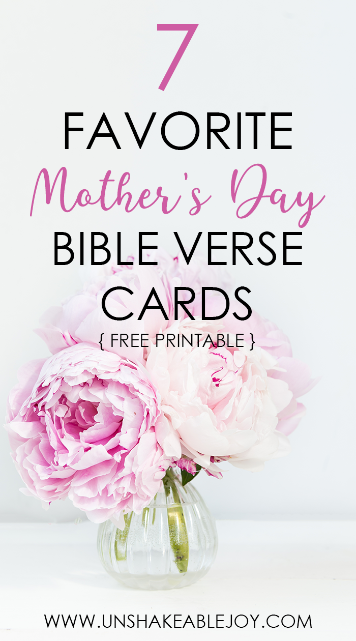 7 Favorite Mothers Day Bible Verse Cards