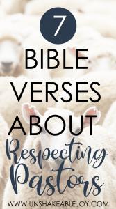 7 Bible Verses About Respecting Pastors