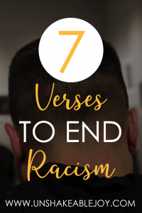 7 verses to end racism