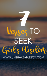 7 VERSES TO SEEK GOD'S WISDOM