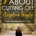 bible verses about cutting off negative people